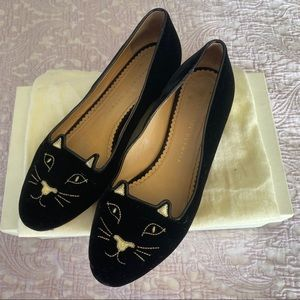 Authentic Charlotte Olympia 'Kitty' Flats